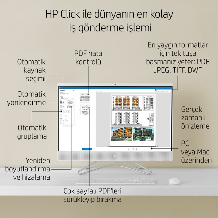 HP DESİGNJET STUDİO WOOD 24 İNC (A1) YAZICI